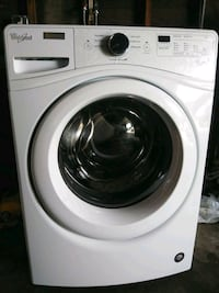 white front-load clothes washer Rialto, 92376