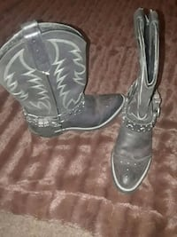 pair of black leather cowboy boots Henderson, 89015