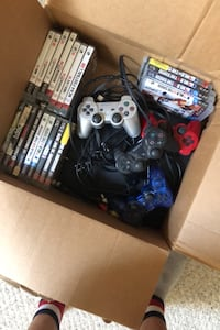 Ps3 20 games red controller works not sure about the others