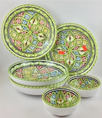 green floral print plate and bowl set Pompano Beach, 33069