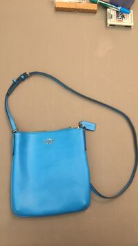 blue leather Coach crossbody bag Surrey, V3W 2T4