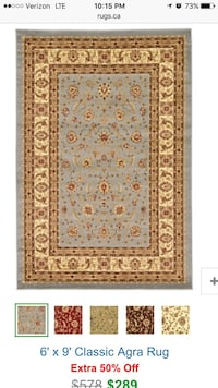 brown and red floral area rug Everett, 98208