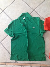 Four Lacoste golf shirts size 4. $30 each or all for $100.