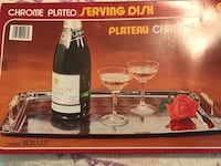 Chrome serving tray new in box Orchard Hills, 21742
