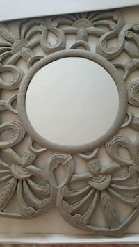 Large Natural Gray Wall Mirror Bowie