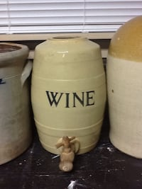 White ceramic wine jar dispenser New Westminster, V3L 1T6