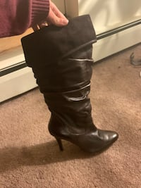 Never worn in box Sexy leather knee high boots