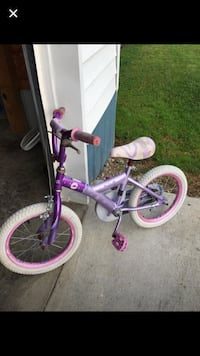 toddler's purple and white bicycle