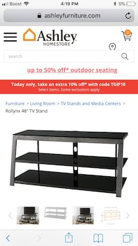 black wooden 3-layer TV stand screenshot Ellenwood, 30294