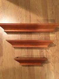 Wall Mounting Wood Shelves - BNIB Brampton, L6S
