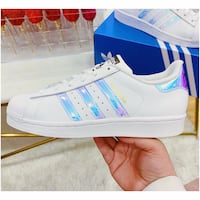 PRICE IS FIRM, PICKUP ONLY - Adidas Holographic Superstars in Size 5Y/6.5 Women's Toronto, M4B 2T2