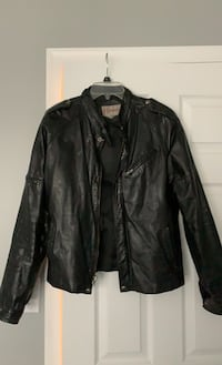 Leather Jacket - Black Red Hill, 18076