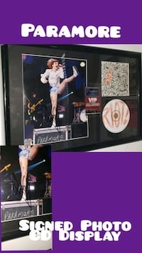Paramore Hayley Signed Photo w Backstage Pass and CD Framed Charlotte, 28202