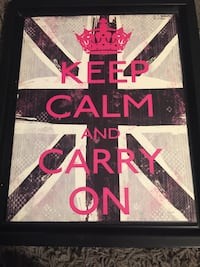 Keep Calm And Carry On Wall Plaque