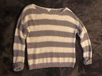 Grey and White Stripe Baggy Sweater Raleigh, 27610