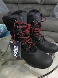 Pair of black leather work boots Orlando, 32809