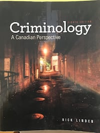 criminology textbook a Canadian perspective 8th edition  Toronto, M1J 2P8