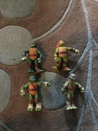 Teen Age Mutant Turtles truck, 3 cars, MD action figures ALL For $20 Arlington, 22207