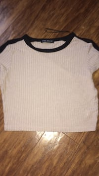 pink and black crop top size small