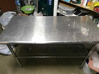 "Stainless steel table 24""x49"""