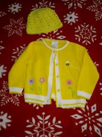 18 Month Yellow Top and hat  383 mi