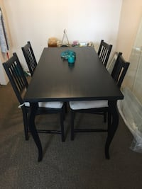 Rectangular brown wooden table with four chairs dining set Vancouver, V6E