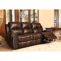Real genuine Italian leather power recliner sofa loveseat and chair  Gaithersburg, 20879