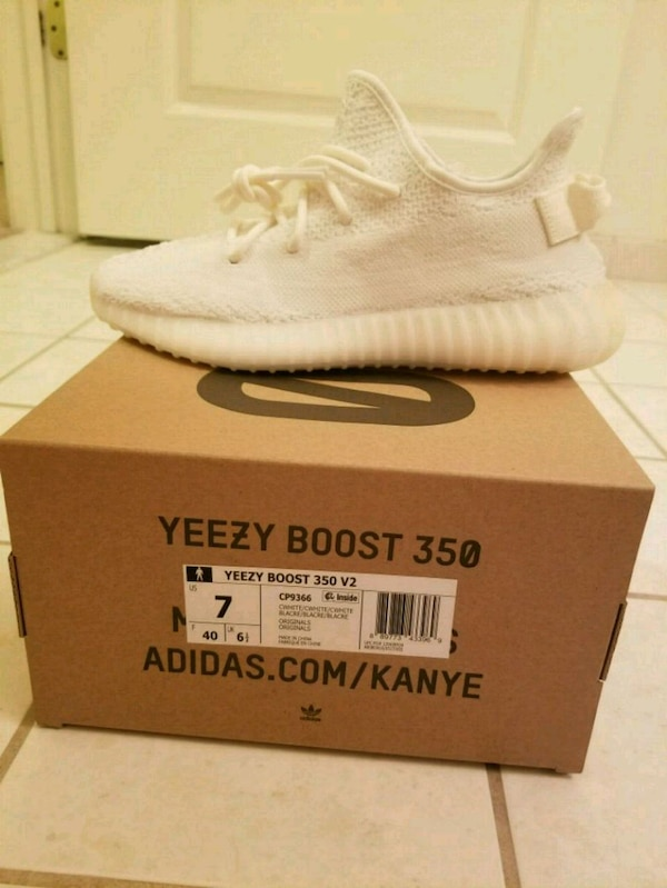 0fa8a7879 Used Yeezy 350 v2 triple white size 7 for sale in East Hanover - letgo