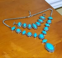 Turquoise beaded necklace and bracelet  Markham, L3T 2G2