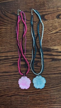 two pink and blue beaded necklaces Toronto, M2R 3A8