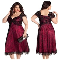 XL Lace Red Formal Dress Party Wedding Event Gown Markham, L3P 1R5