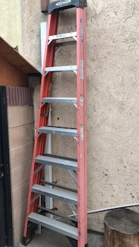 red and gray Werner A-frame ladder Long Beach, 90805