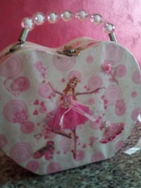 Barbie di stampa bianco e rosa lunch box floreale Borsano, 21052