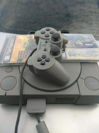 sony playstation 1 console controller and 2 games Santa Ana, 92703