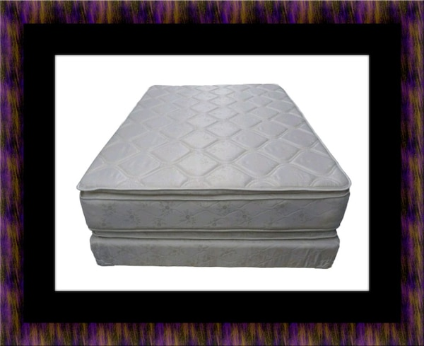 Pillowtop mattress with box spring