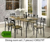 brown wooden dining table set Tustin, 92780