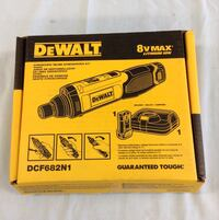 BRAND NEW Dewalt dcf682n1r 8v Max Gyroscopic inline cordless screwdriver kit. Includes battery and charger.