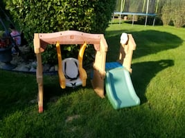 Infant swing and slide