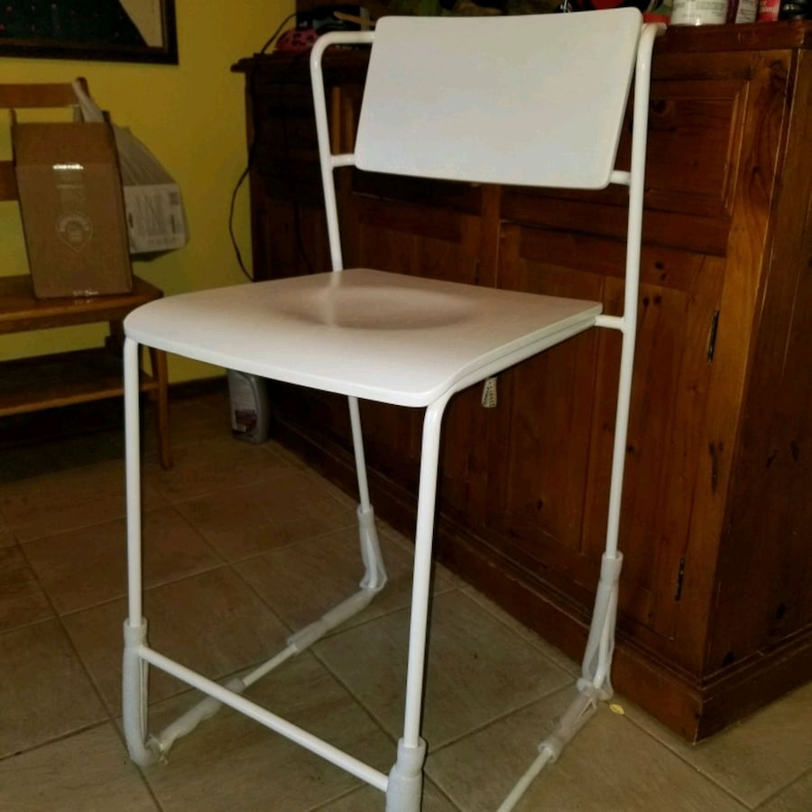 New White Sturdy and Stackable Chairs