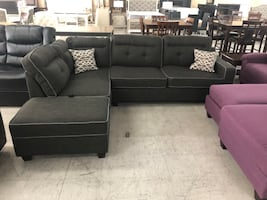 Black Sectional Moving Sale! We Finance!