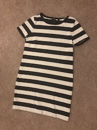 Jcrew navy and white stripped jersey dress  Rockville, 20850