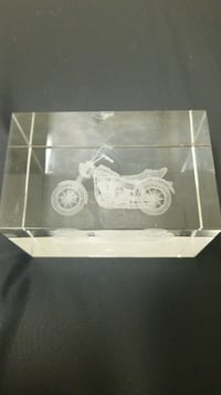 cruiser motorcycle etched glass paperweioght Fort Meade, 20755