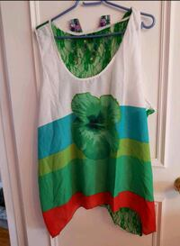 women's white and green sleeveless dress Toronto, M3J 1W1