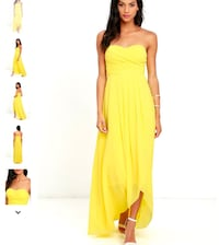 Yellow LULUS gown NWT New York