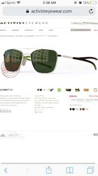 Sunglasses ( Activist eyewear, Summit 01 )  West Valley City, 84120