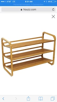 3 tier bamboo shoe rack i have 10 of these still in boxes