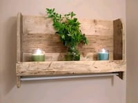 Handmade Original Shelf w/ bar to hang items