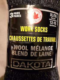 Dakota  Wool work socks 3 pairs Toronto, M1B 1J5