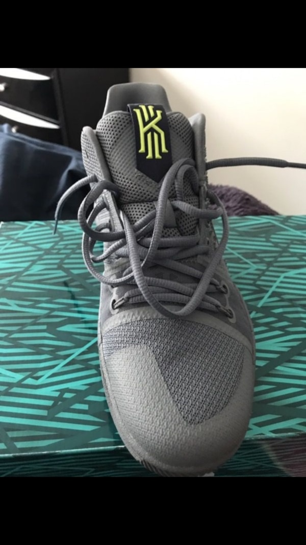online store fe314 c72cf Gray Kyrie 1 basketball shoe