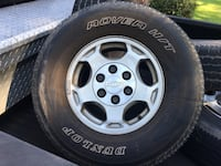 Stock Chevy z71 rims. 4 16 inch tires great condition (one tire is popped though)  Leesburg, 31763